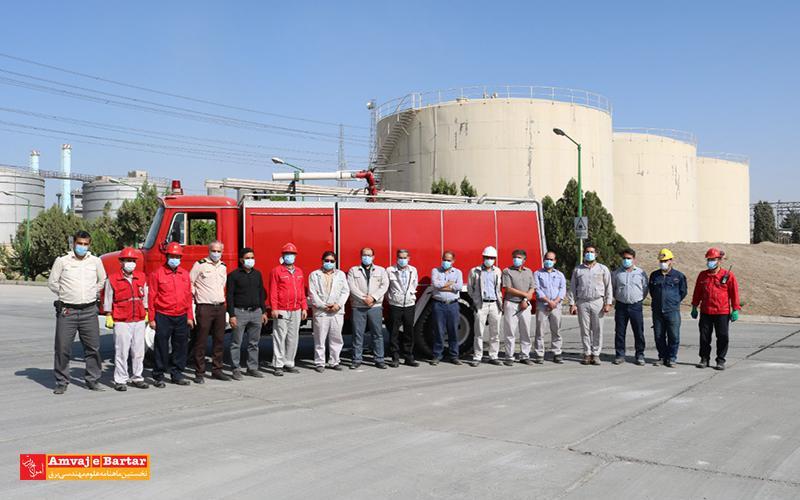 مانور مدیریت بحران حادثه حریق در محل پمپ خانه ذخیره سوخت واحدهای اشکودا نیروگاه مشهد